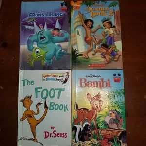 4 books Disney and Dr. Seuss Good Condition